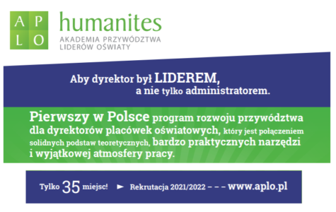 Rozpoczęcie naboru do XII edycji Akademii Przywództwa Liderów Oświaty (APLO)